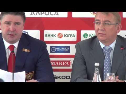 Как объявляли состав сборной России в Зале хоккейной славы