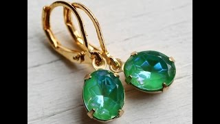 Latest Model Stone Earrings Models || Gold Stone Hoop Earrings || Earring Designs