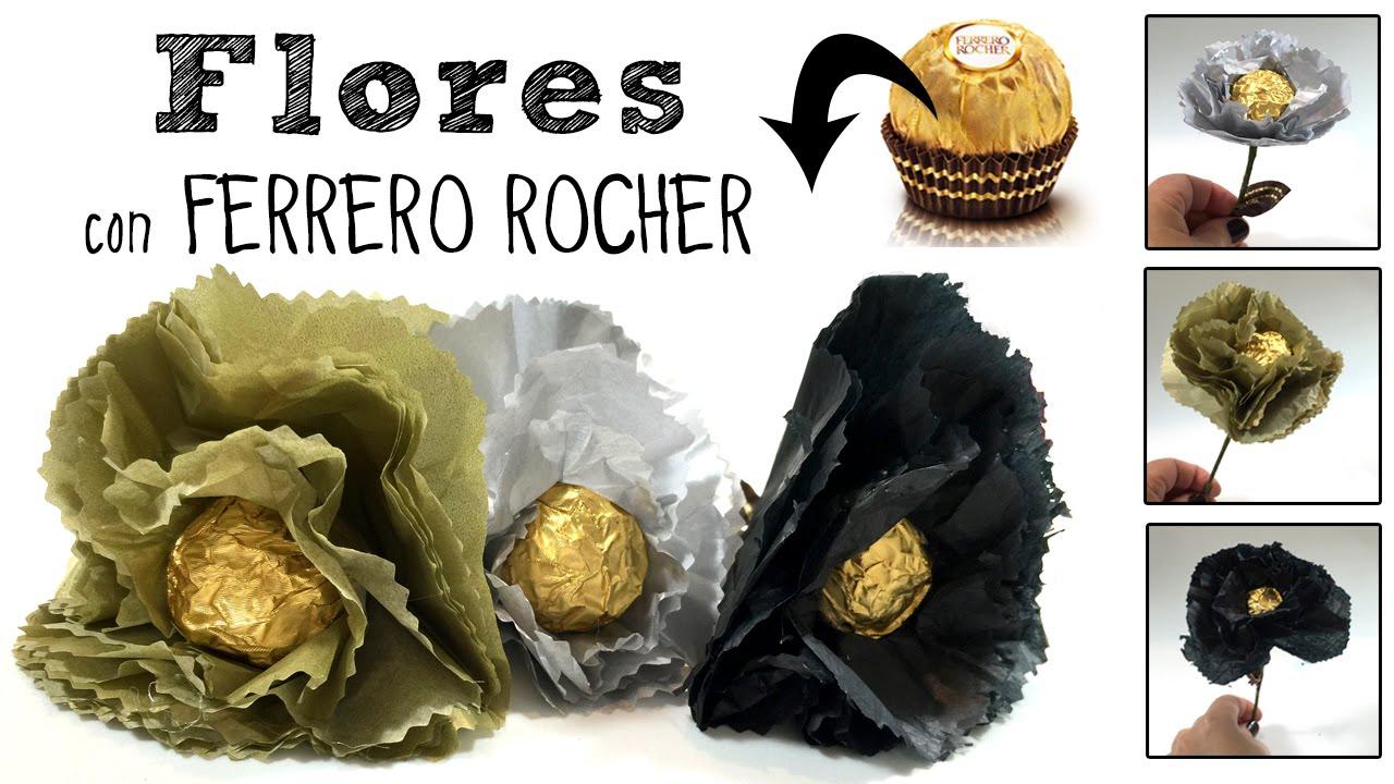 Flores con ferrero rocher regalo de san valent n o d a de - Regalos para el dia de la madre manualidades ...