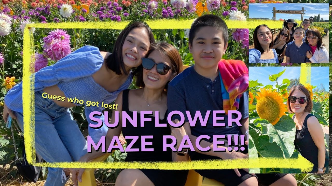 HUGE Sunflower Maze Race in Canada // Andree Bonifacio