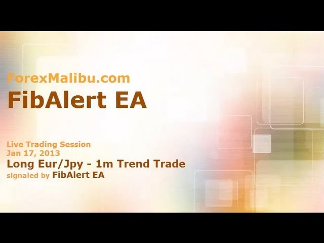 Jan 17, 2013 – FibAlert EA Long 1m Trend Trade – Live Forex Trading Training Room
