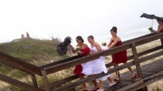 Weather Caught On Camera: A Wet and Windy Wedding