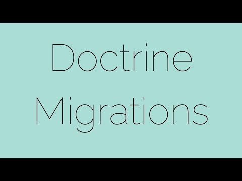 Doctrine Migrations Bundle - Starting from Scratch