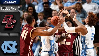 Boston College Vs. North Carolina Full Game | 2019-20 Acc Men's Basketball