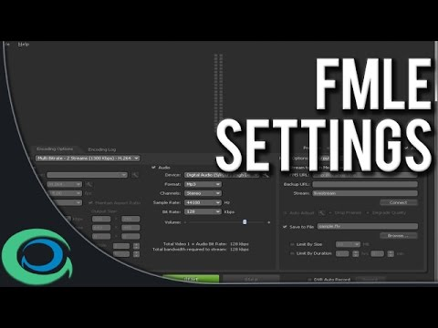 How to use Flash Media Live Encoder with ConnectCast.tv