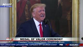 HEROES President Trump Presents The Medal Of Valor To Police Officers