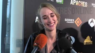 """La mala pata de Ingrid García Jonsson en el estreno de """"Apaches"""" en Vitoria"""