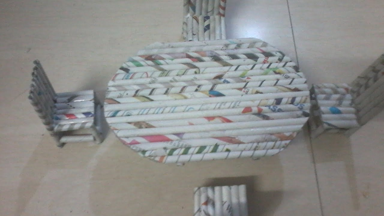 Diy How To Make Dining Table With Chairs Using News Paper