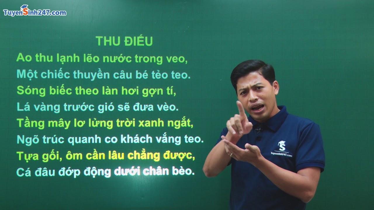 """Góc nhìn vui về bài thơ """"Thu điếu"""" Thầy giáo Phạm Quốc Toản"""