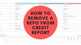 How to get a repo deleted off your credit report