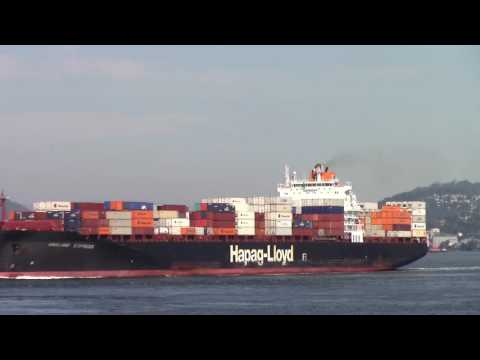 Container Ship OAKLAND EXPRESS departing Port of Vancouver (June 6, 2016)