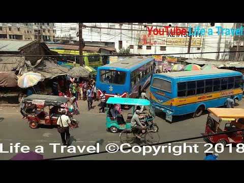 Barasat bus stand Champadali More - Jessore Road (NH-35) & Basirhat (Taki) Road Crossing