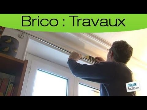 Comment poser un rideau et une tringle youtube - Accrocher un tableau sans percer ...