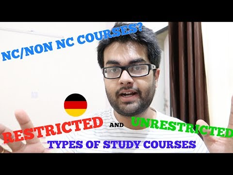 Unrestricted and restricted study courses in Germany (Non-NC and NC)