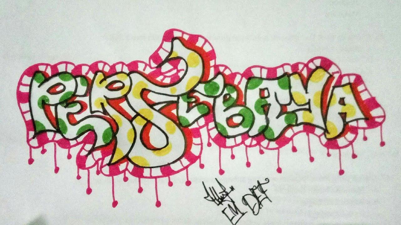 """Cara Menggambar Grafiti """"PERSEBAYA"""" Grafiti Indonesia - # ..."""