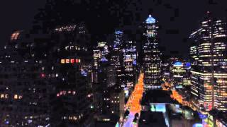 Aerial video of Seattle at night in 4k!