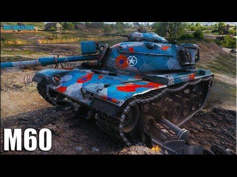 Красава на M60 10к урона ✅ World of Tanks лучший бой