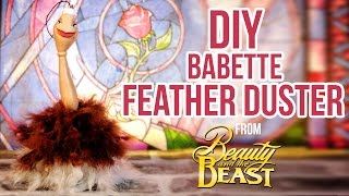 Disney FEATHER DUSTER - BABETTE /FIFI/ PLUMETTE TUTORIAL from Beauty and the Beast ENG/FR