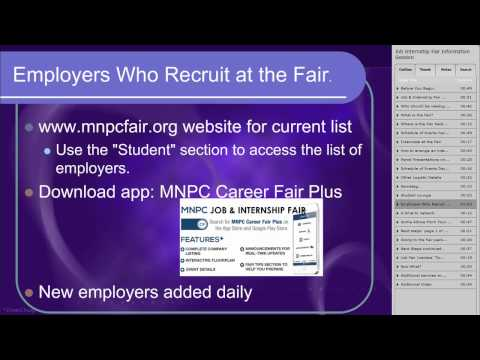 UST MN Private Colleges Job And Internship Fair Orientation Webinar 2015