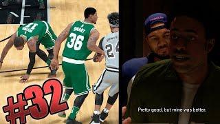 NBA 2k18 MyCAREER - Nasty Ankle Breaker on Kyrie! Shaq Diss Track in The Studio! Ep. 32