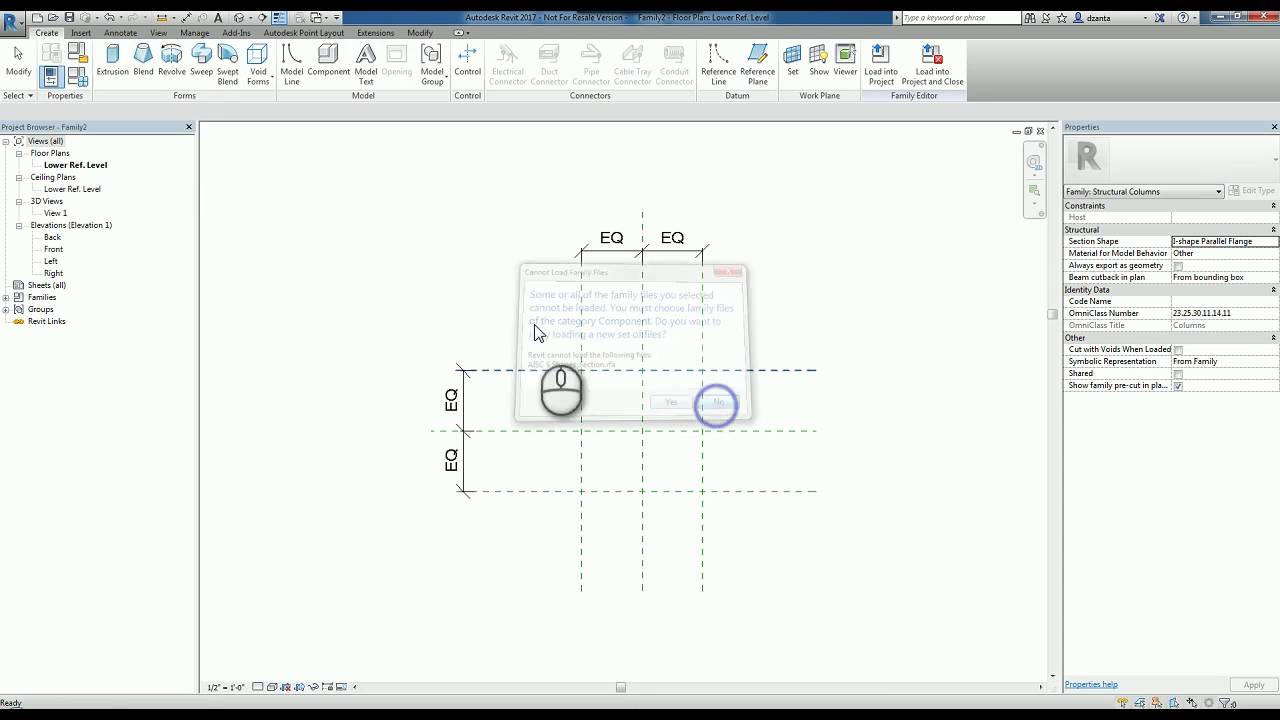 Revit Steel Profile within Family