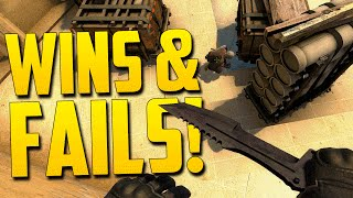 WINS AND FAILS! - CS GO Funny Moments in Competitive