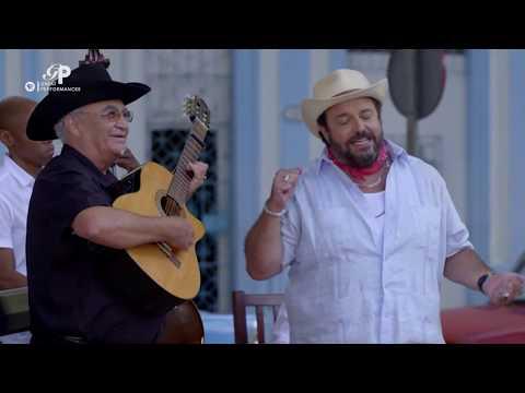"Singer Raul Malo performs ""Siboney"" with Eliades Ochoa's band"