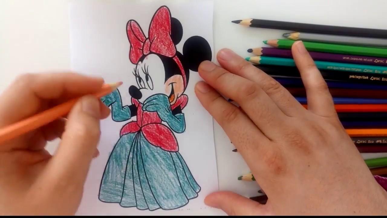 Mickey Mouse Boyama Serisi Minnie Mouse Boyama Oyunu Youtube