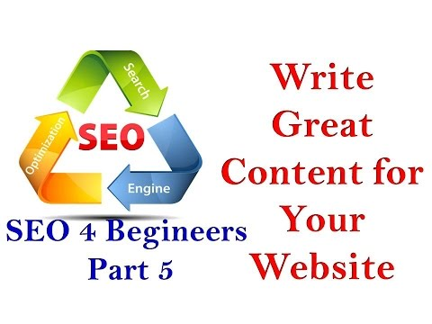 How To Write Great Content For Your Website - Seo For Begineers Part - 5 - 동영상