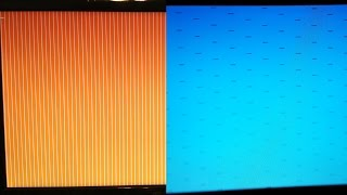 How to fix orange screen with vertical white stripes and blue screen with horizontal lines