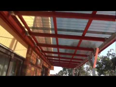 My Awning Or Roof Over My Top Floor Balcony From Start To Finish Youtube