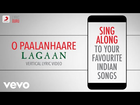 O Paalanhaare - Lagaan|Official Bollywood Lyrics|Lata Mangeshkar|Udit Narayan|A.R