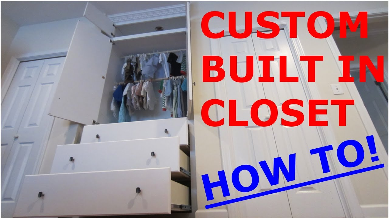 The built in closet for my son how to youtube for How to make wardrobe closet