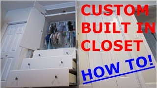 The Built In Closet for my Son - How To