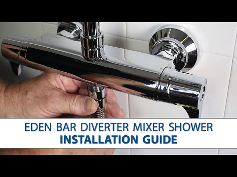 Eden Bar Mixer with Diverter - Step-by-Step Installation Guide