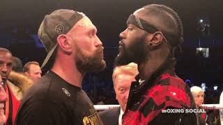 FACE OFF! DEONTAY WILDER AND TYSON FURY GO HEAD TO HEAD AFTER FIGHT ANNOUNCED IN THE RING IN BELFAST