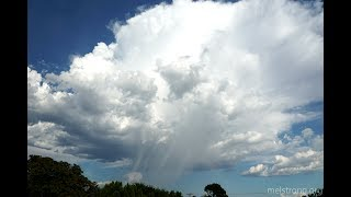 Birth and death of a cumulonimbus (thunderstorm) over the Sandias - 4k time lapse