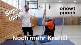 Optimale Griffkraft mit extra Gewicht! Seilklettern für Ninja Training. Gewichtsweste hilft dir💪
