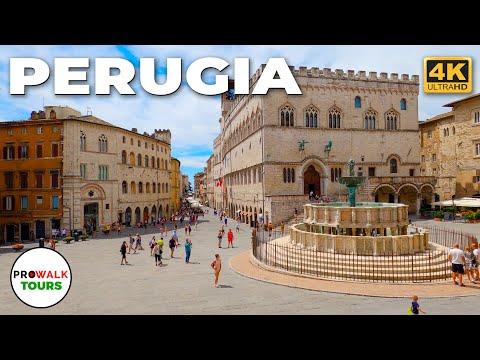 Perugia, Italy Walking Tour - 4K - Prowalk Tours