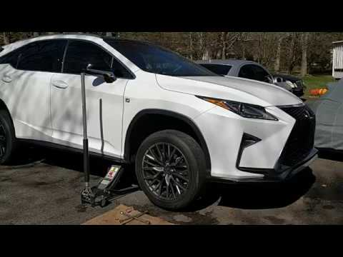 Lexus RX350 F-Sport Front Brake Pad Replacement DIY 2016