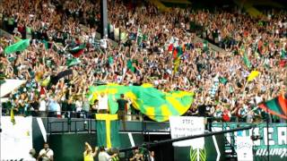 The Timbers Army reacts to the first Timbers goal vs. LA