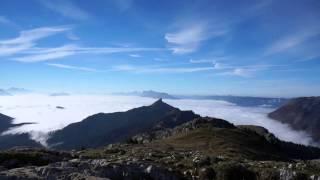 360°  vue du Charmant Som sur les massifs de Belledonne, Mont Blanc, Chartreuse