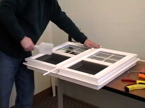 How To Mull Two Vinyl Windows Together Youtube