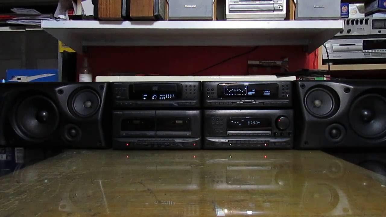 Kenwood Midi Hifi Stereo Amplifier Cd Tape Graphic
