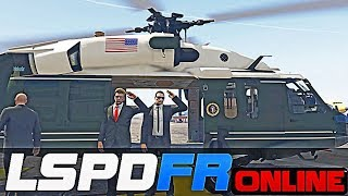GTA 5 Mods Online - DoctorGTA Presidential Escort to Marine One Helicopter
