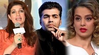 Twinkle turns diplomatic on karan-kangana controversy | bollywood news