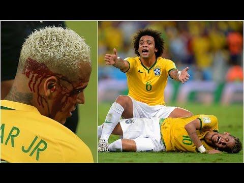 Players Hunting on Neymar jr ● Horror Tackles● Brutal Fouls ● HD