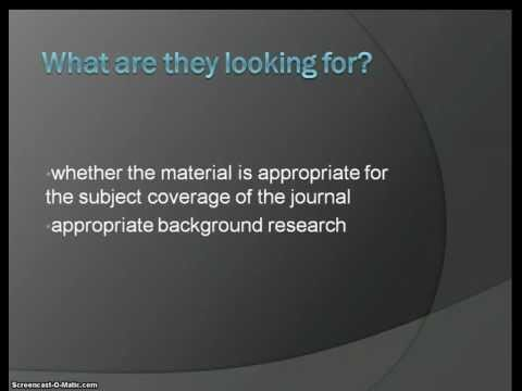Understanding Scholarly Journal Articles