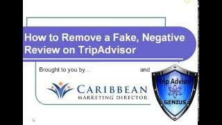 Removing Fake Reviews from Trip Advisor - Part 1 TripAdvisor Genius BOOST REPUTATION