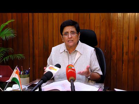 Lt. Governor Dr. Kiran Bedi's interview  to SUN TV and Puthiya Thalamurai